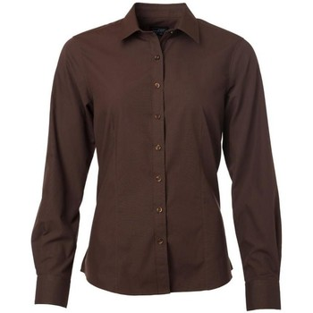 Textil Mulher camisas James And Nicholson  Brown