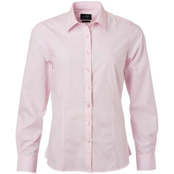 Textil Mulher camisas James And Nicholson  Rosa claro
