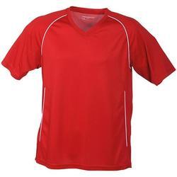 Textil T-Shirt mangas curtas James And Nicholson  Vermelho/branco