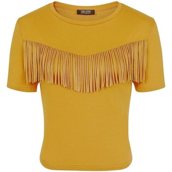 Textil Mulher T-Shirt mangas curtas Girls On Film  Mustard Yellow