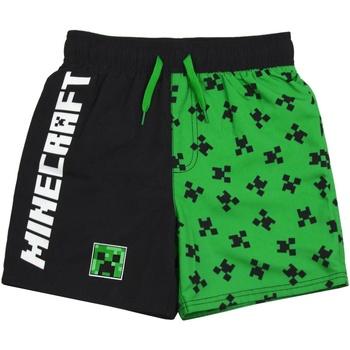 Textil Rapaz Fatos e shorts de banho Minecraft  Verde/Preto