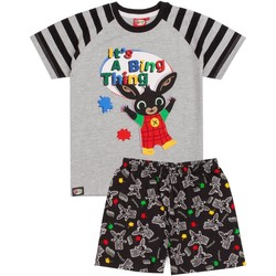 Textil Rapaz Pijamas / Camisas de dormir Bing Bunny  Cinza/Preto