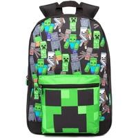 Malas Mochila Minecraft  Preto/Verde