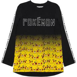 Textil Rapaz T-shirt mangas compridas Pokemon  PRETO/YELLOW