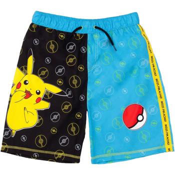 Textil Rapaz Fatos e shorts de banho Pokemon  PRETO/ AZUL