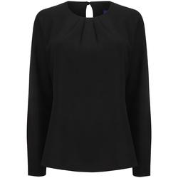 Textil Mulher T-shirt mangas compridas Henbury HB598 Preto