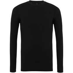 Textil Homem T-shirt mangas compridas Tridri TR016 Preto