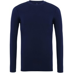 Textil Homem T-shirt mangas compridas Tridri TR016 Marinha