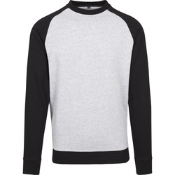 Textil Homem T-shirt mangas compridas Build Your Brand BY076 Heather Grey/Black