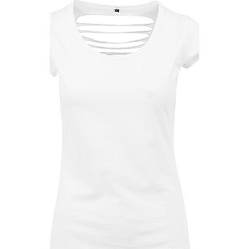 Textil Mulher T-Shirt mangas curtas Build Your Brand BY035 Branco