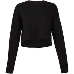 Textil Mulher Sweats Bella + Canvas BE7503 Preto