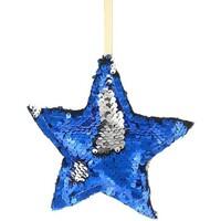 Casa Decorações festivas Christmas Shop RW7266 Azul/Prata