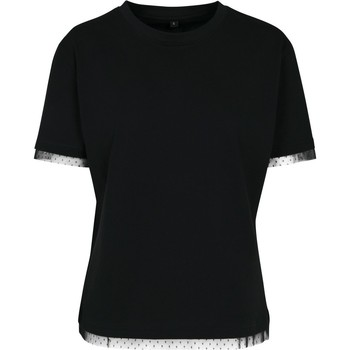 Textil Mulher T-Shirt mangas curtas Build Your Brand BY124 Preto