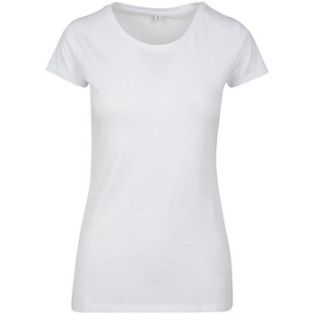 Textil Mulher T-Shirt mangas curtas Build Your Brand BY086 Branco