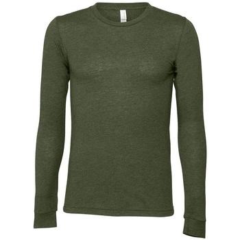 Textil T-shirt mangas compridas Bella + Canvas BE044 Verde Militar