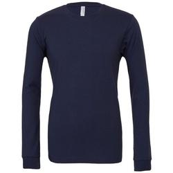 Textil T-shirt mangas compridas Bella + Canvas BE044 Marinha