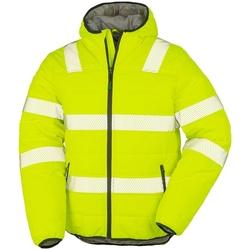 Textil Homem Casacos  Result Genuine Recycled R500X Amarelo Fluorescente