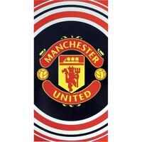Casa Toalha e luva de banho Manchester United Fc TA1039 Preto/Vermelho/branco