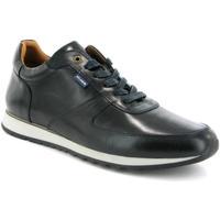 Sapatos Homem Sapatilhas Atlanta Mocassin Ténis em pele Azul