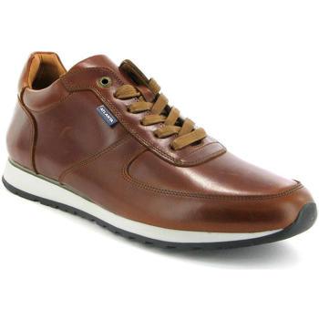 Sapatos Homem Sapatilhas Atlanta Mocassin Ténis em pele Castanho