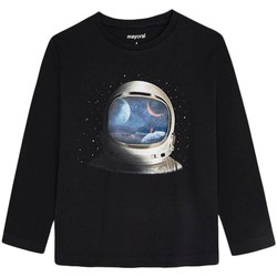 Textil Rapaz T-shirt mangas compridas Mayoral  Negro