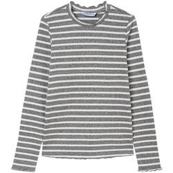 Textil Rapariga T-shirt mangas compridas Mayoral  Gris