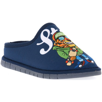 Sapatos Rapaz Chinelos Grunland BLU G7 FIMO Blu