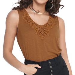 Textil Mulher Tops / Blusas Jacqueline De Yong  Castanho