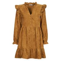 Textil Mulher Vestidos curtos Betty London PRIXOUTE Camel