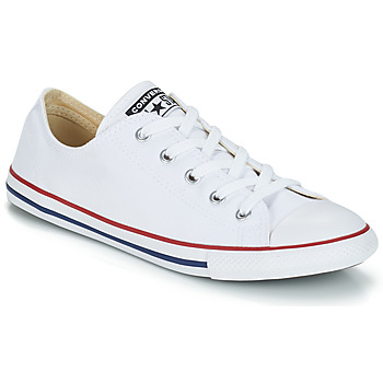 Sapatos Mulher Sapatilhas Converse ALL STAR DAINTY OX Branco   Vermelho 1cf2b62f7f003