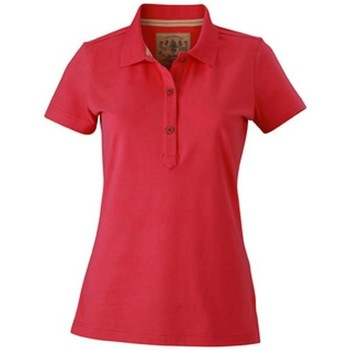 Textil Mulher Polos mangas curta James And Nicholson  Pink