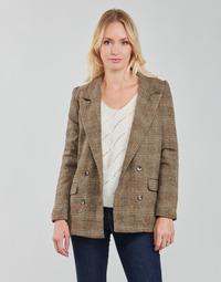 Textil Mulher Casacos/Blazers Betty London PANOPI Castanho