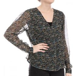 Textil Mulher T-shirt mangas compridas Jacqueline De Yong  Preto