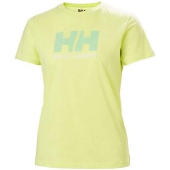 Textil Mulher T-Shirt mangas curtas Helly Hansen W Logo Tshirt Verde