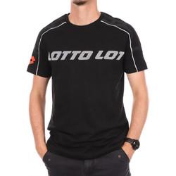Textil Homem T-Shirt mangas curtas Lotto  Preto