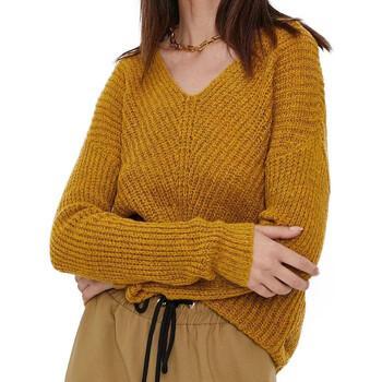 Textil Mulher camisolas Jacqueline De Yong  Amarelo