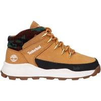 Sapatos Criança Sapatilhas de cano-alto Timberland A2GUU BROOKLYN EURO SPRINT Beige