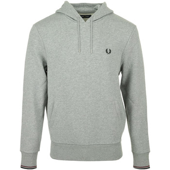 Textil Homem Sweats Fred Perry Tipped Hooded Sweatshirt Cinza