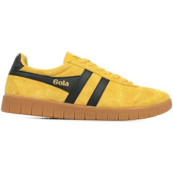 Sapatos Homem Sapatilhas Gola Hurricane Suede Amarelo