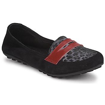 Sapatos Rapariga Mocassins Mod'8 CELEMOC JUNIOR Preto / Leopardo / Vermelho