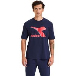 Textil Homem T-Shirt mangas curtas Diadora Ss Shield Azul