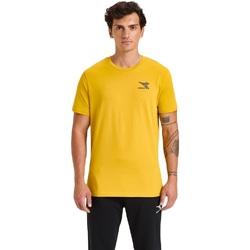 Textil Homem T-Shirt mangas curtas Diadora Ss Chromia Amarelo