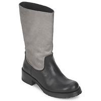 Sapatos Mulher Botas Pastelle PETULA Prata-preto