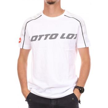 Textil Homem T-Shirt mangas curtas Lotto  Branco