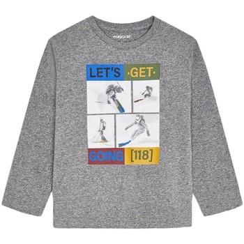 Textil Rapaz T-shirt mangas compridas Mayoral  Gris