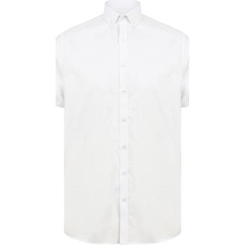 Textil Homem Camisas mangas curtas Henbury H517S Branco