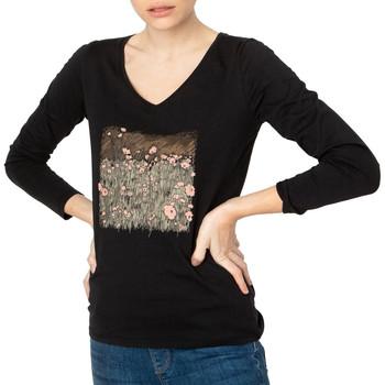 Textil Mulher T-shirt mangas compridas TBS  Preto