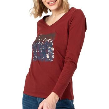 Textil Mulher T-shirt mangas compridas TBS  Vermelho