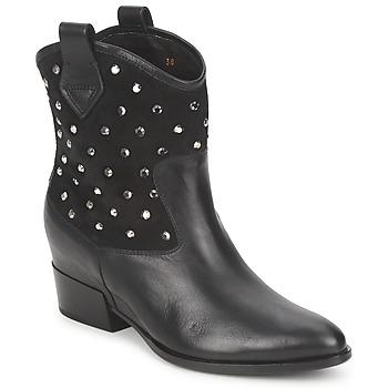 Sapatos Mulher Botas baixas Alberto Gozzi GIANNA Veludo-preto
