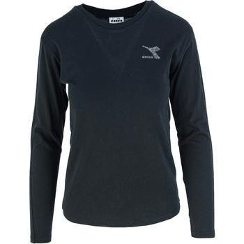 Textil Mulher T-shirt mangas compridas Diadora Ls Blink Preto